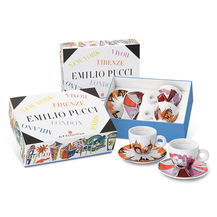 illy EMILIO PUCCI 2x cappuccino šálek