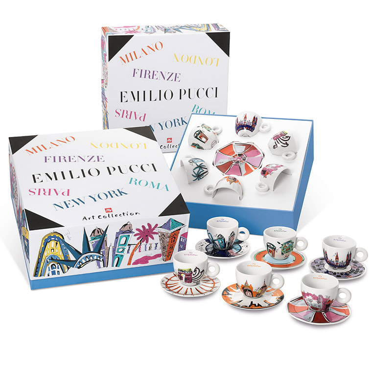 illy EMILIO PUCCI kolekce 6x cappuccino šálek