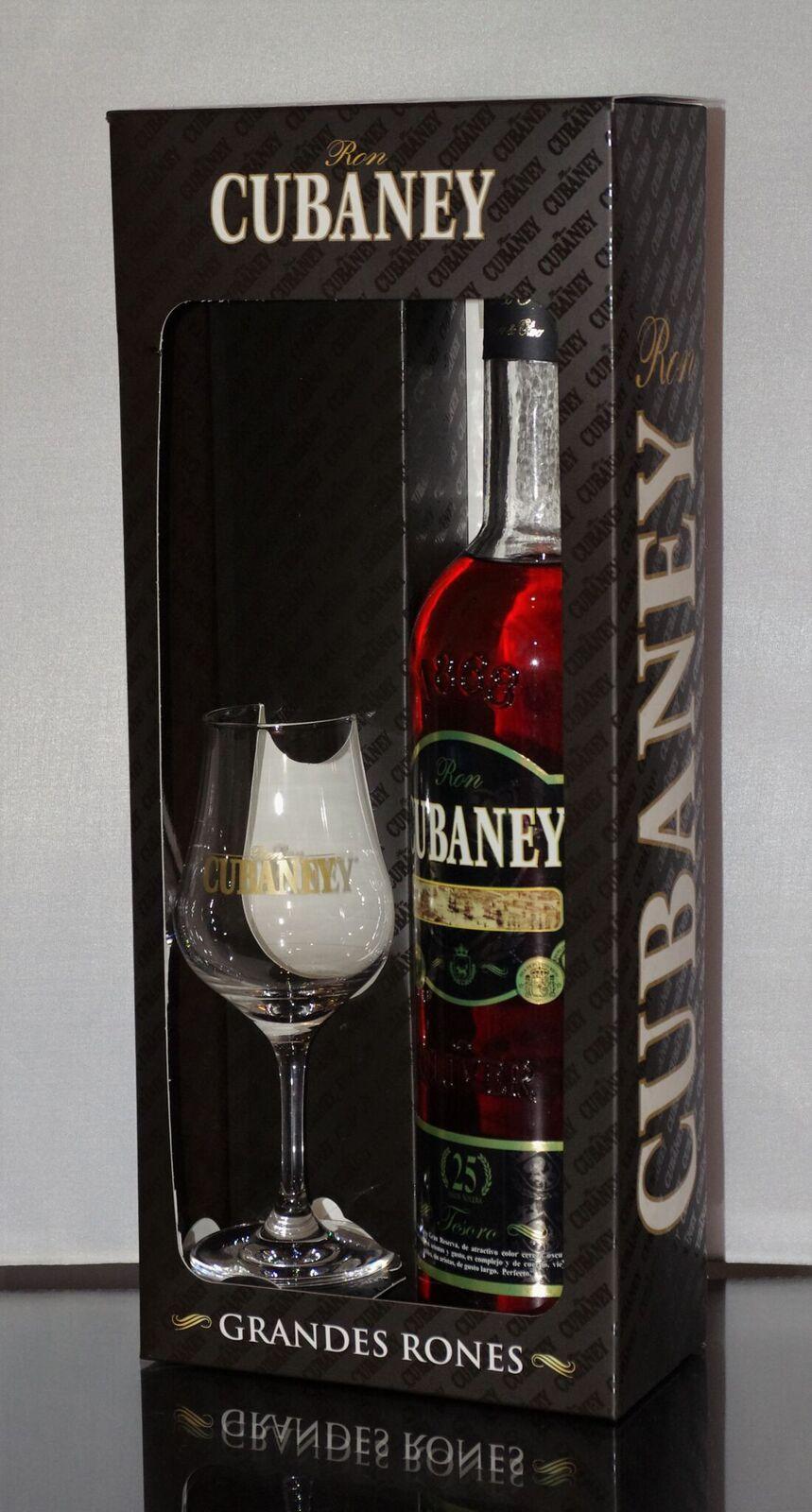 Cubaney Tesoro 25 Aňos Dárkové balení se skleničkou