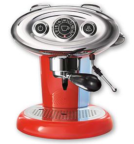 Kávovar Francis Francis X7 - červený kávovar na kapsle