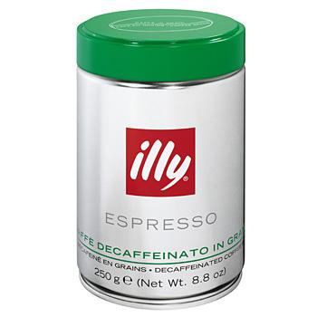 illy Zrnková káva bez kofeinu 250 g