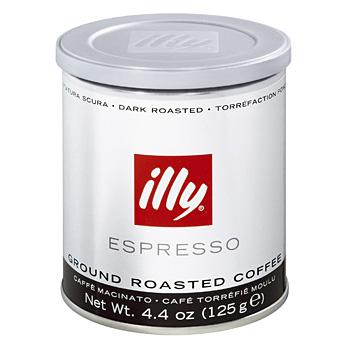 illy Mletá káva dark 125 g