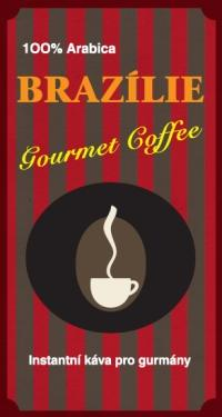 Káva Brazílie Gourmet, instantní - sáček