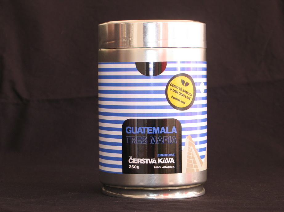 Káva Guatemala Tres Maria, mletá 250 g- dóza
