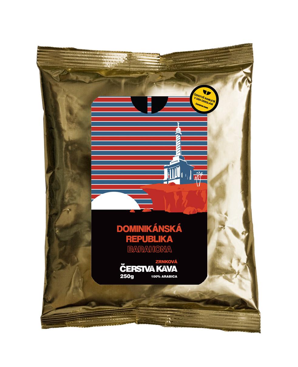 Káva Dominikánská republika Barahona, mletá - sáček 250 g