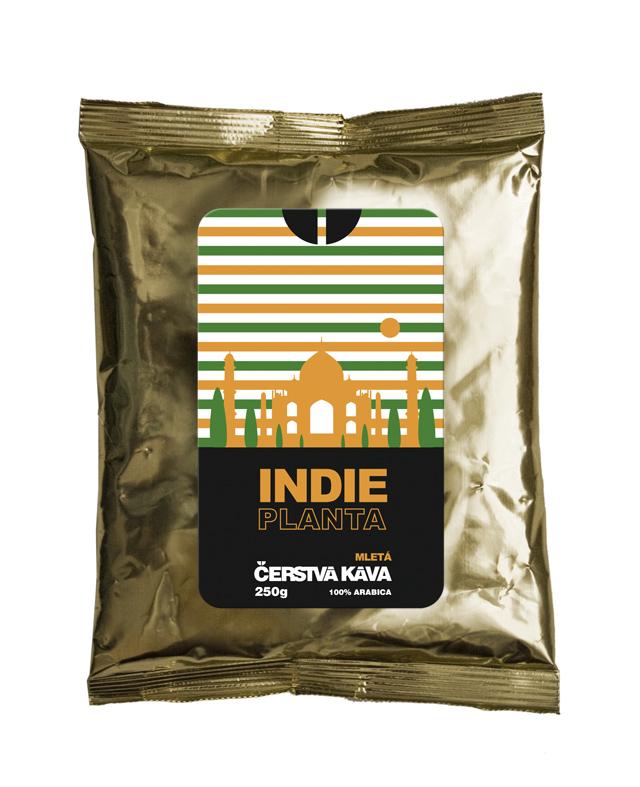 Káva Indie Planta, mletá - sáček 250 g