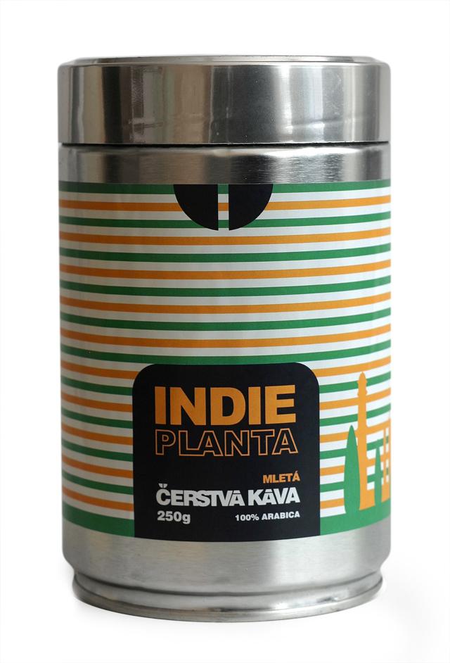 Káva Indie Planta, mletá - dóza 250 g