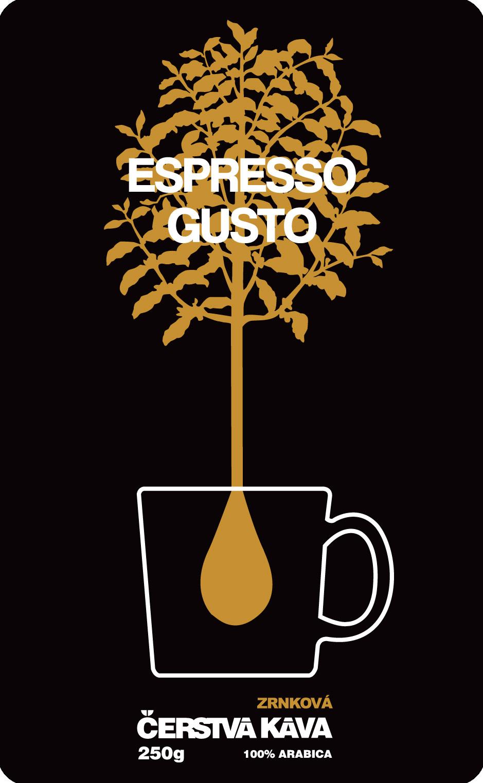 Káva Espresso Gusto, zrnková - sáček 250 g
