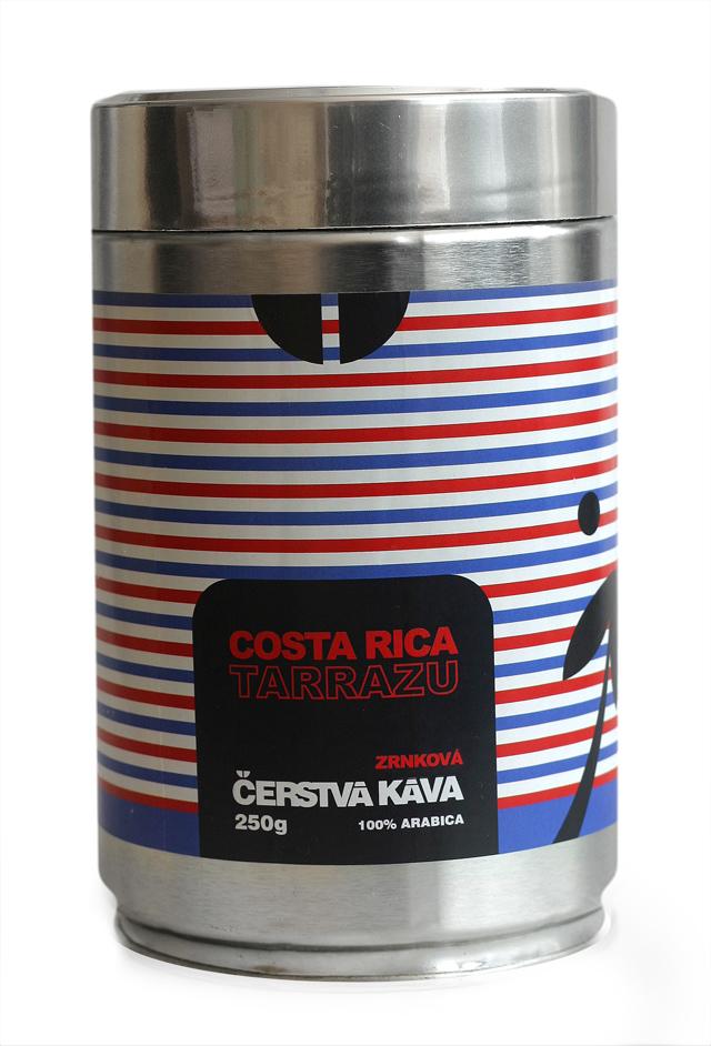 Káva Costa Rica Tarrazu, zrnková - dóza 250 g
