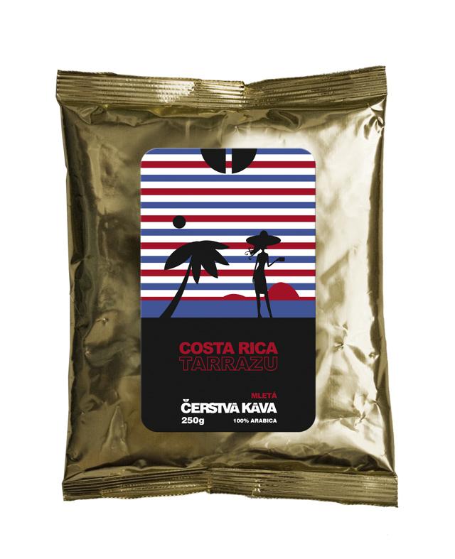 Káva Costa Rica Tarrazu, mletá - sáček 250 g