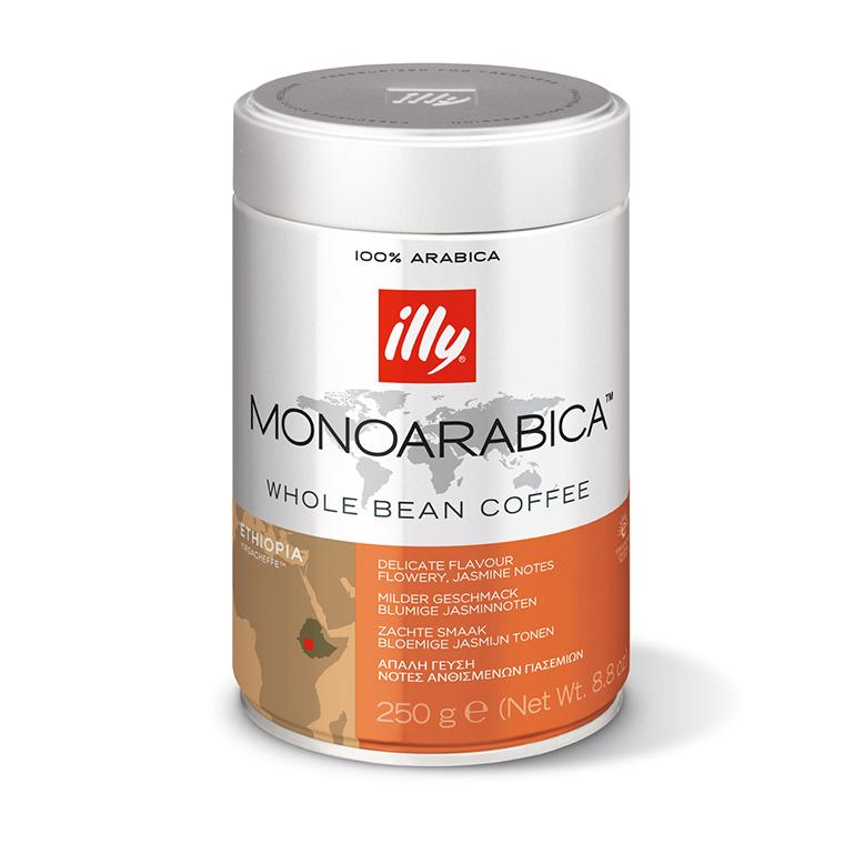 Zrnková káva illy 250 g – Monoarabica Etiopia
