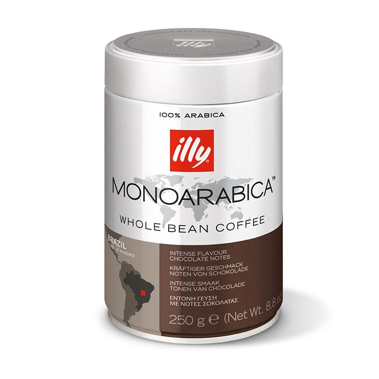 Zrnková káva illy 250 g – Monoarabica Brazil