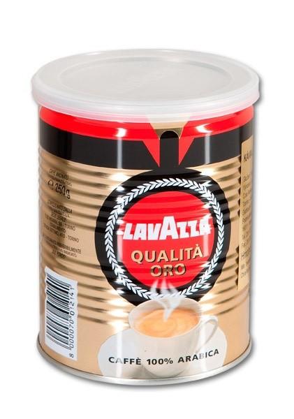 Lavazza Qualita Oro - mletá káva plechovka 250 g